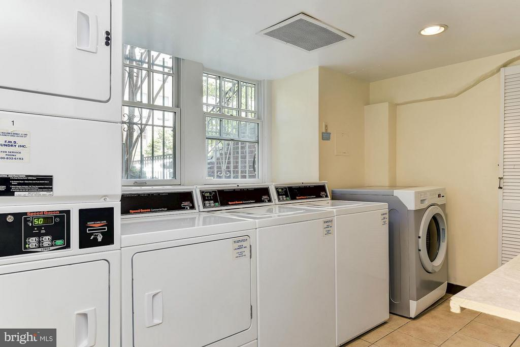 3 washers and 3 dryers in common Laundry Room - 2410 20TH ST NW #8, WASHINGTON