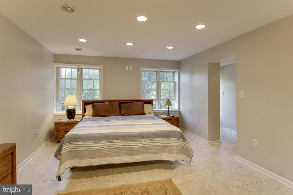 Open master bedroom with light and bright windows - 4300 ANDES DR, FAIRFAX