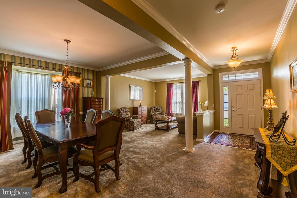 View of Foyer, Living Room & Dining Room - 16230 TIMID CREEK CT, DUMFRIES
