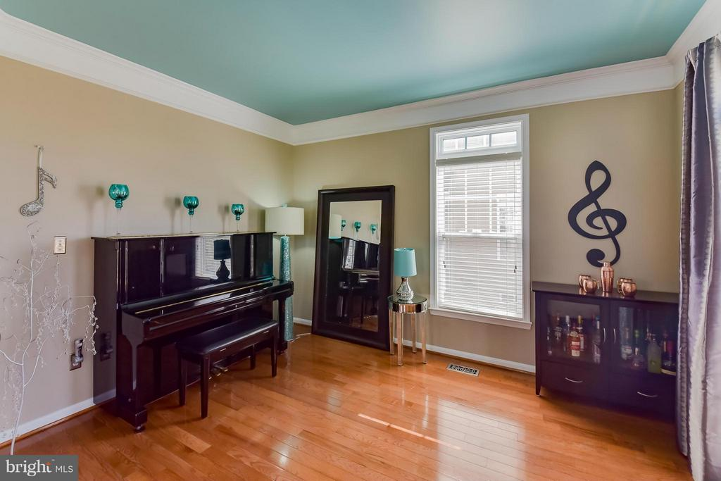 Formal LIving Room with Crown Molding - 25046 MINERAL SPRINGS CIR, ALDIE