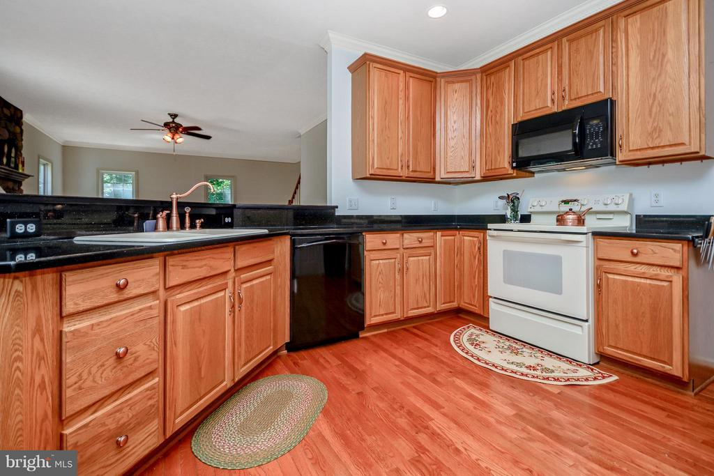Kitchen w/granite countertops - 13421 FOX CHASE LN, SPOTSYLVANIA