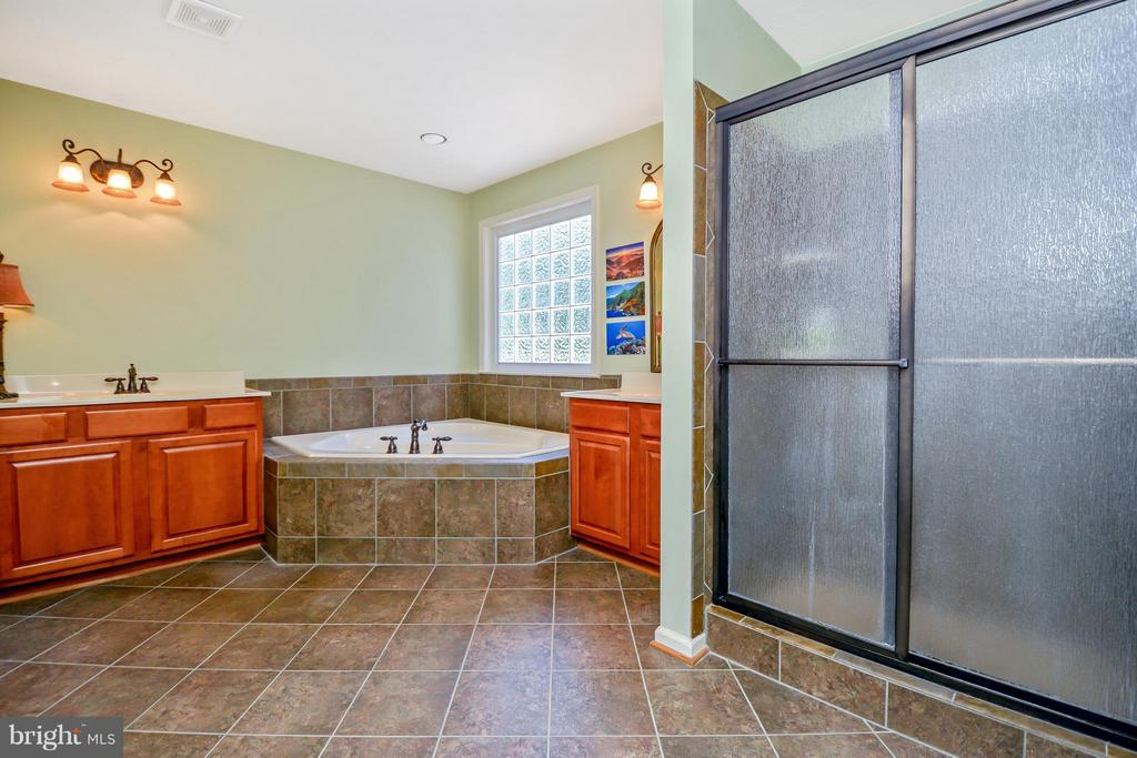 Bath (Master) with separate tiled shower - 13421 FOX CHASE LN, SPOTSYLVANIA