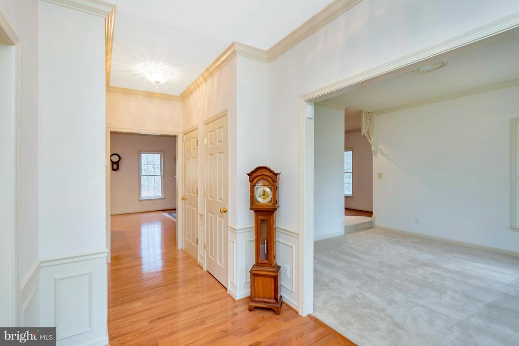 Front Foyer and living room - 13421 FOX CHASE LN, SPOTSYLVANIA