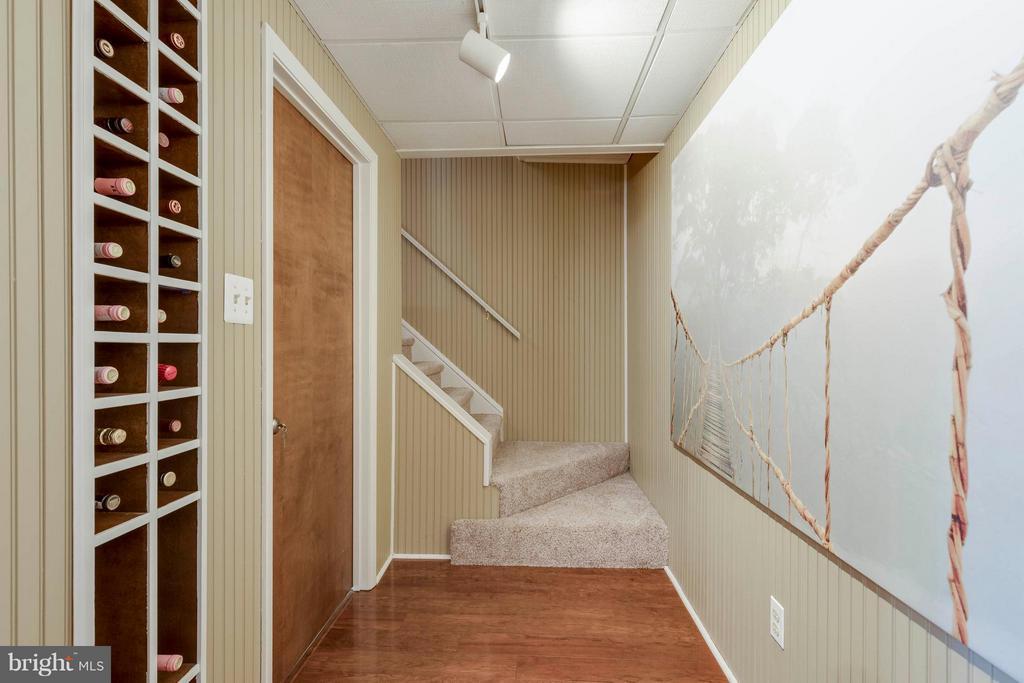 Stairs to Rec Room*Built in Wine Rack* - 5830 APPLE WOOD LN, BURKE