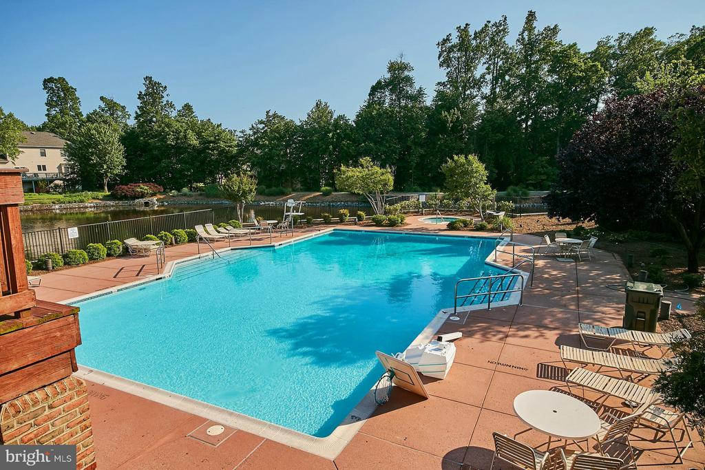 Amenities also include large outdoor pool - 3601 PARAMOUNT RD, FAIRFAX