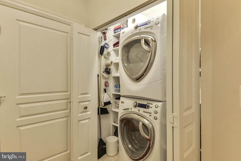 Remodeled Laundry Closet with storage - 12001 MARKET ST #250, RESTON