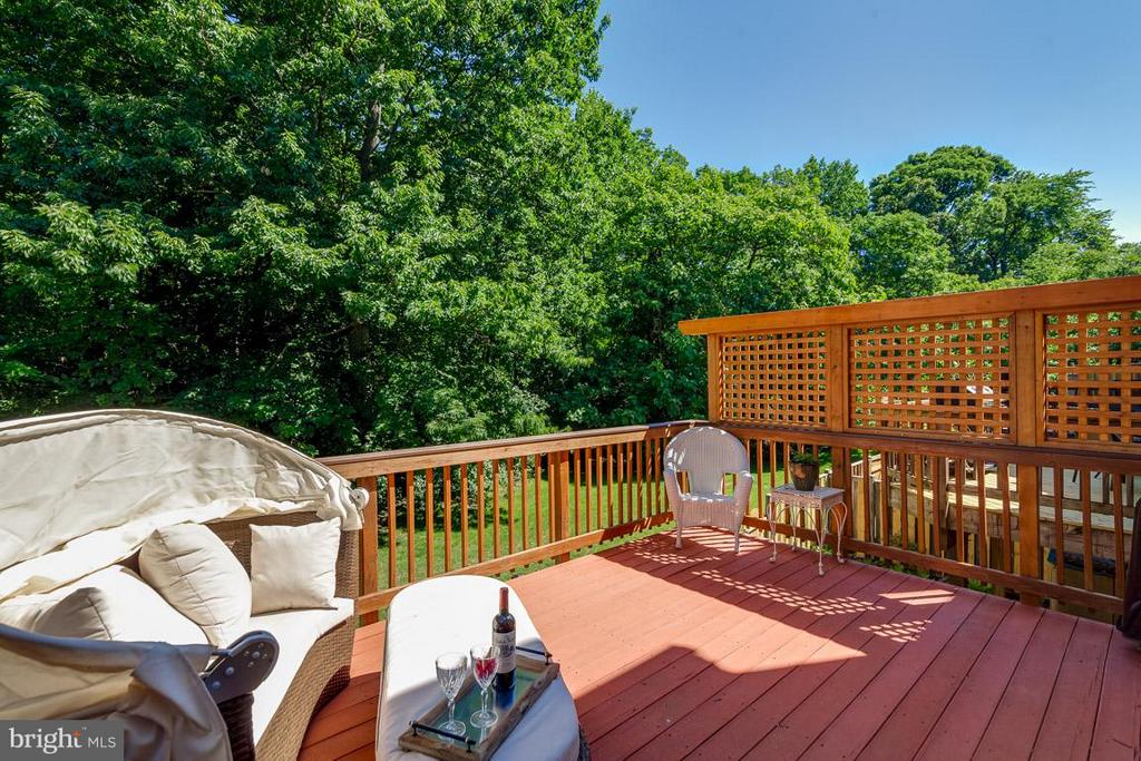 Dine outdoor on TREX deck updated 2015 - 7303 MALLORY LN, ALEXANDRIA