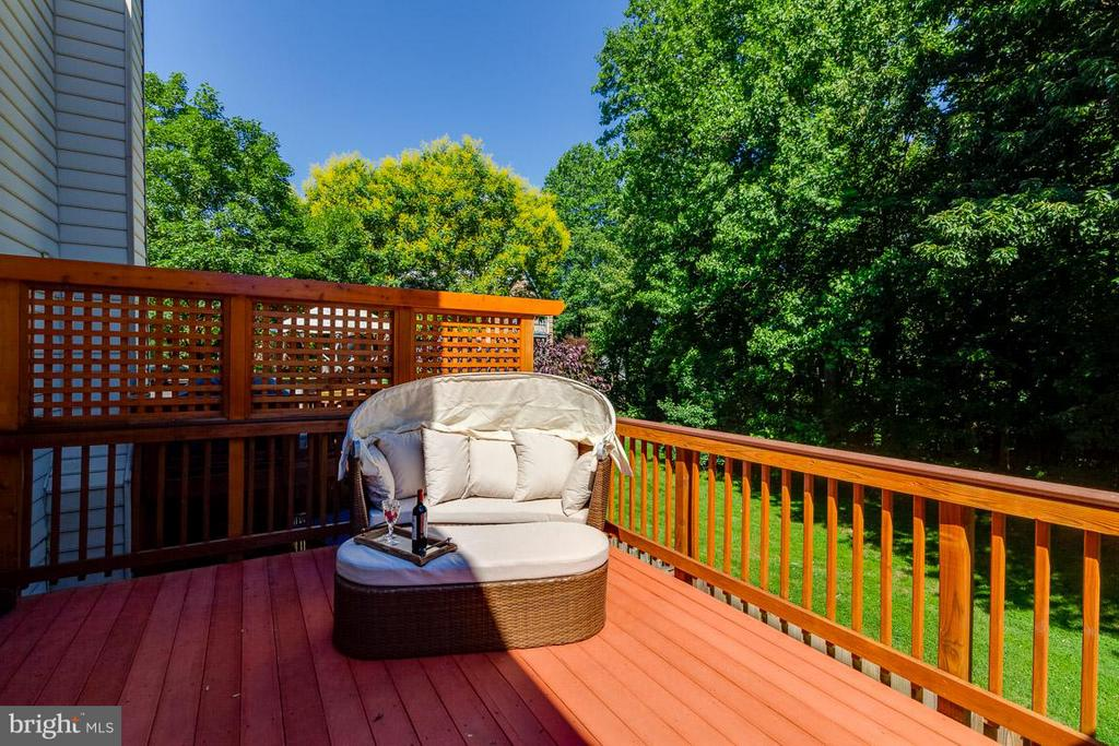 Quiet and tranquil deck backs to woods - 7303 MALLORY LN, ALEXANDRIA