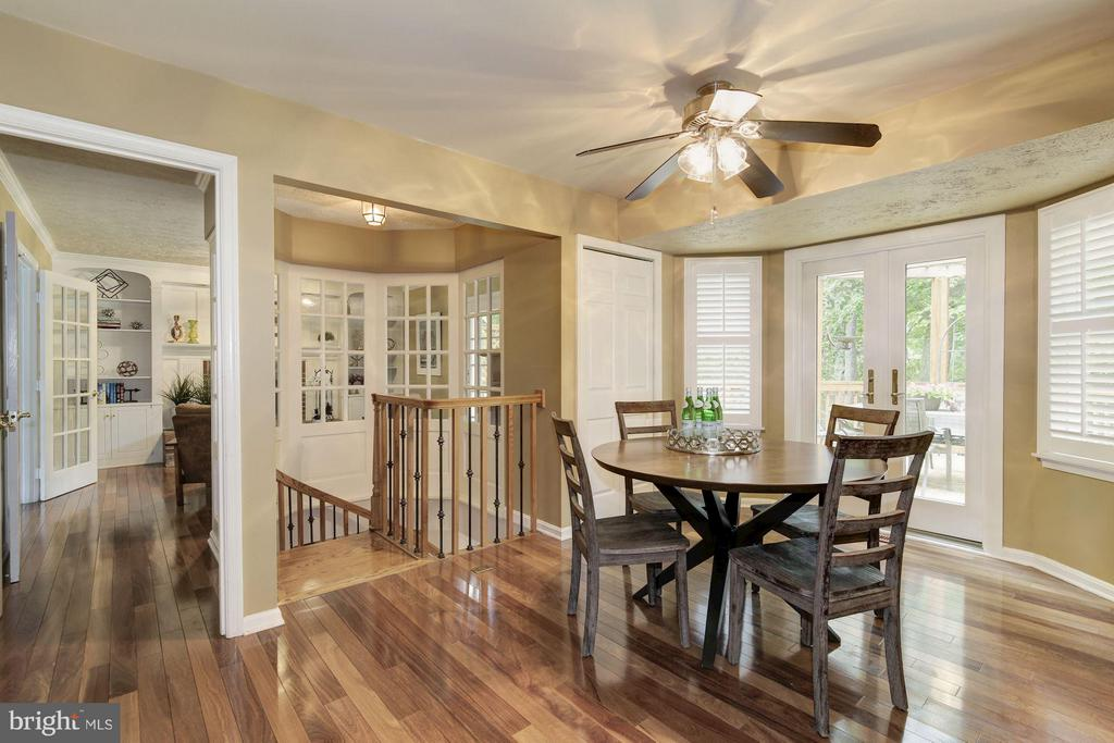 Table space in kitchen & french doors to deck - 7317 JENNA RD, SPRINGFIELD