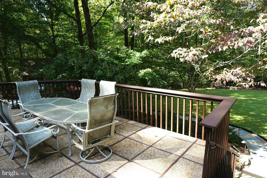 Deck from Kitchen - Rear Yard - 10009 WISAKON TRL, MANASSAS