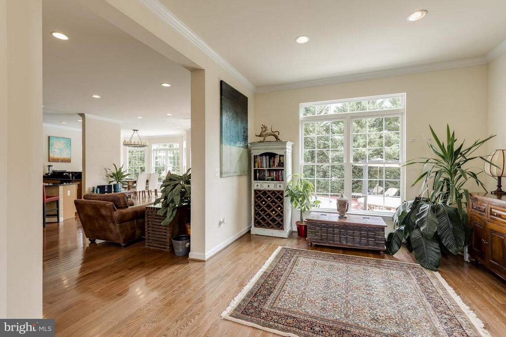 10 ft. ceilings on main level, beautiful light - 18434 RIM ROCK CIR, LEESBURG