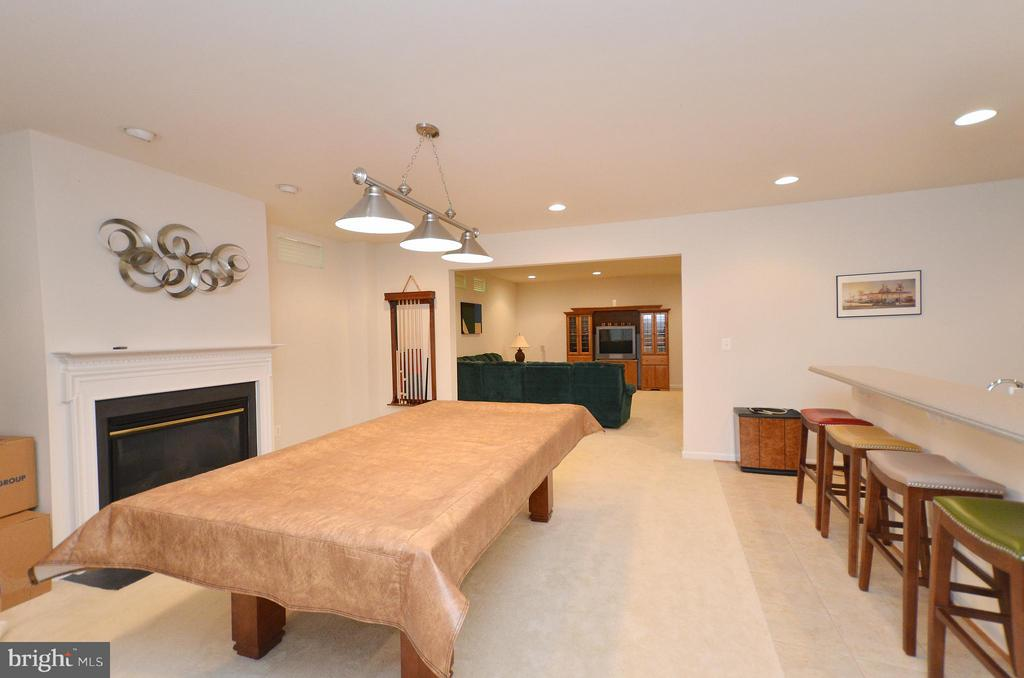 Large Rec Room with view into media area - 43014 PARK CREEK DR, BROADLANDS