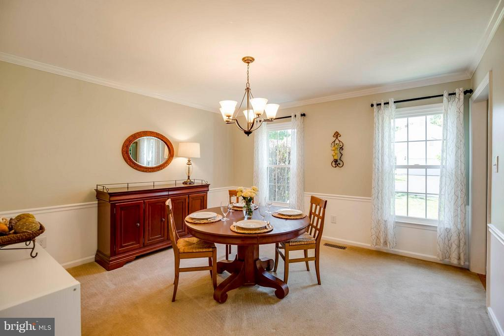 Formal Dining with Crown Molding and Chair Rail - 12559 LIEUTENANT NICHOLS RD, FAIRFAX