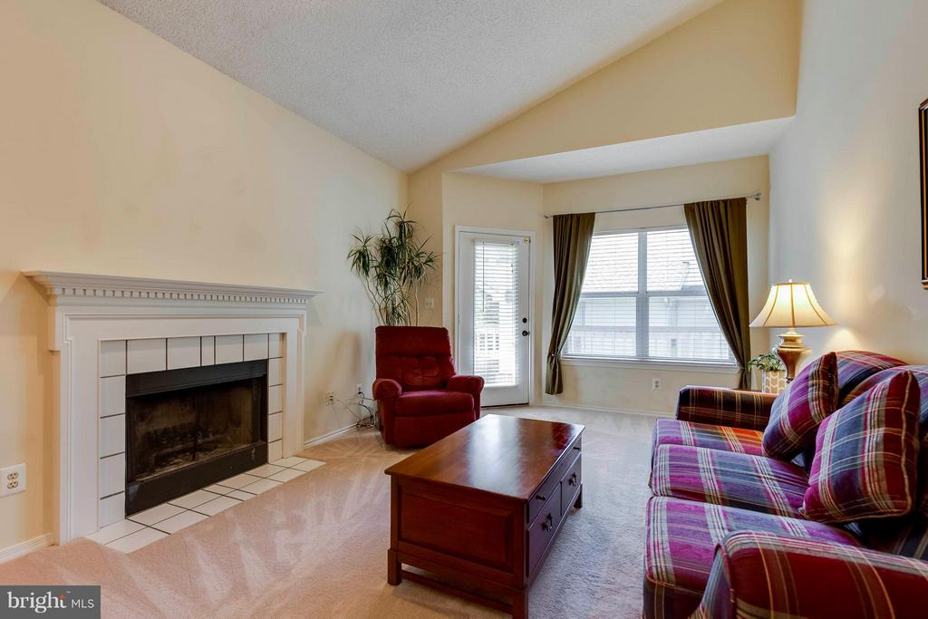 Family Room with Wood Burning Fireplace - 4404 HELMSFORD LN #203, FAIRFAX