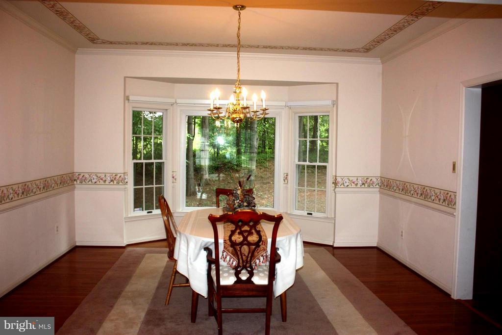 Dining Room spacious crown and chair molding. - 46437 ESTERBROOK CIR, STERLING