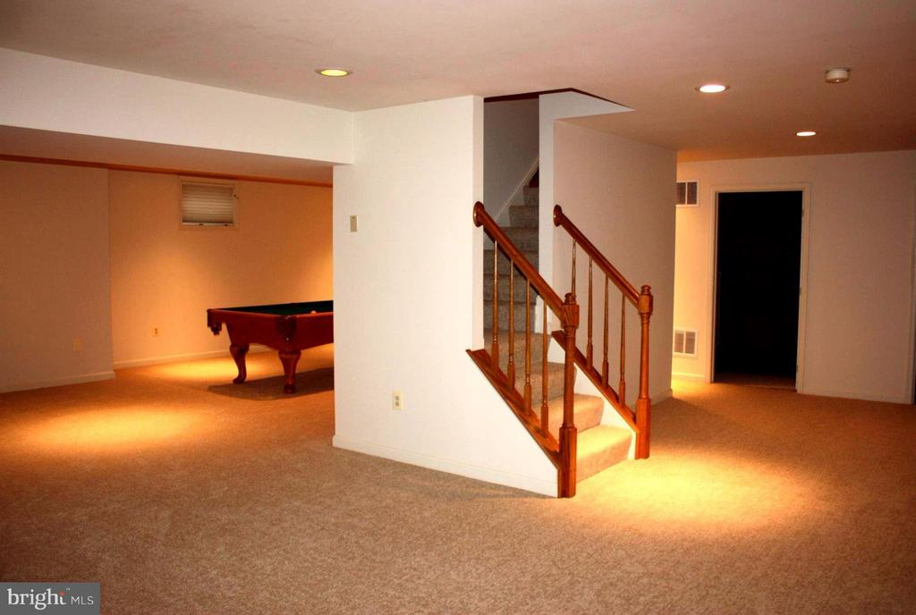 Spacious basement new carpet and recessed lights - 46437 ESTERBROOK CIR, STERLING