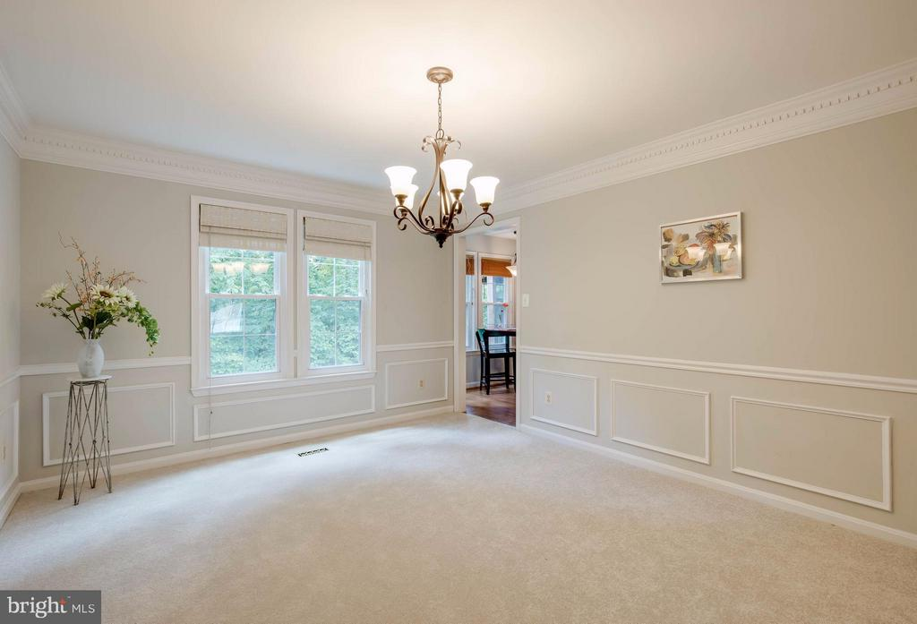 Dining Room  is large & has lovely moldings - 12029 SUGARLAND VALLEY DR, HERNDON