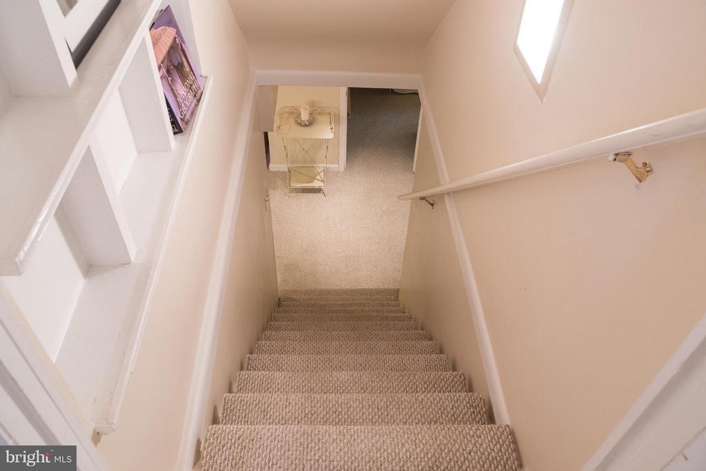 Stairs to basement - 6701 JEFFERSON AVE, FALLS CHURCH