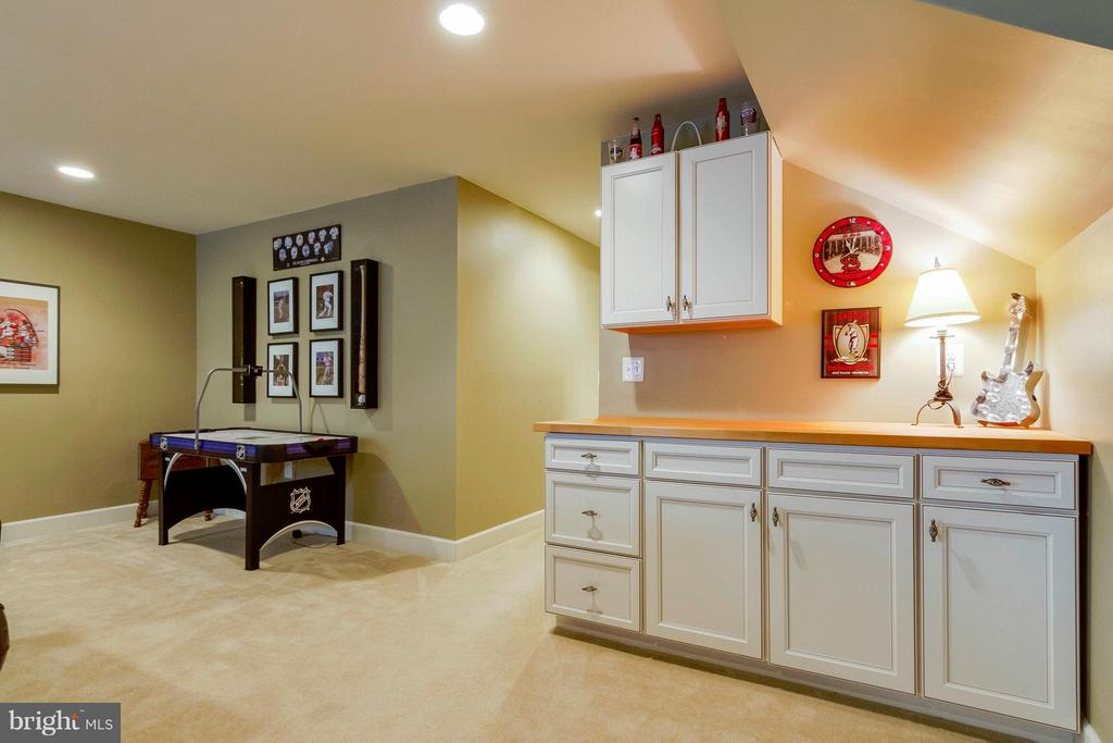 Basement Rec Room has Built-ins - 15300 MARIBELLE PL, WOODBRIDGE
