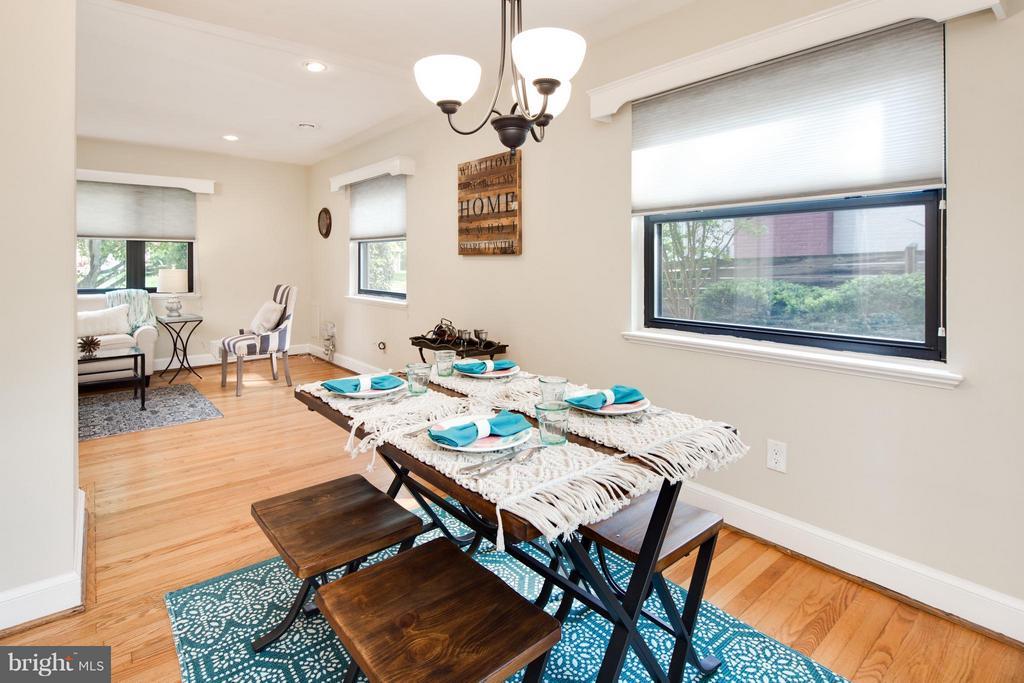 Dining Room w/ Hardwood Flooring - 6818 WILLIAMSBURG BLVD, ARLINGTON