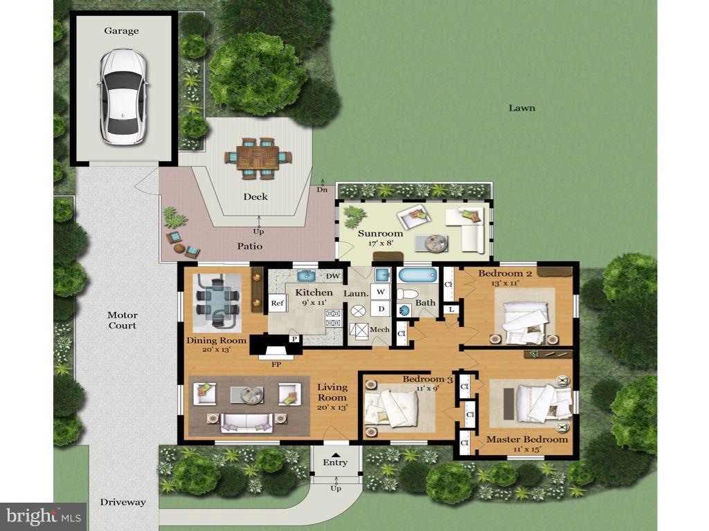 Floor Plan - 6818 WILLIAMSBURG BLVD, ARLINGTON