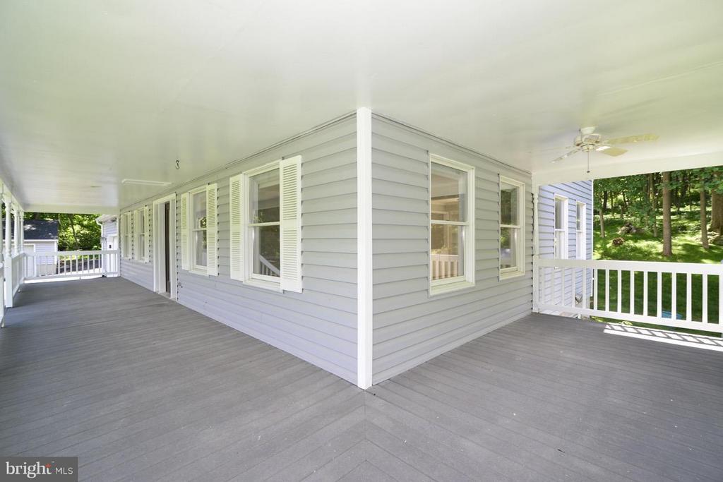 New deck flooring. - 287 BARKER LN, BLUEMONT