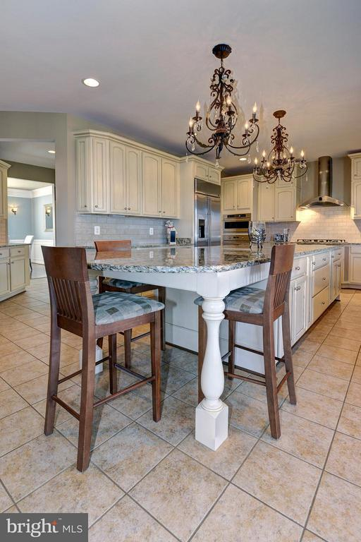 Kitchen island is great for a table, too! - 16545 LEVADE DR, LEESBURG