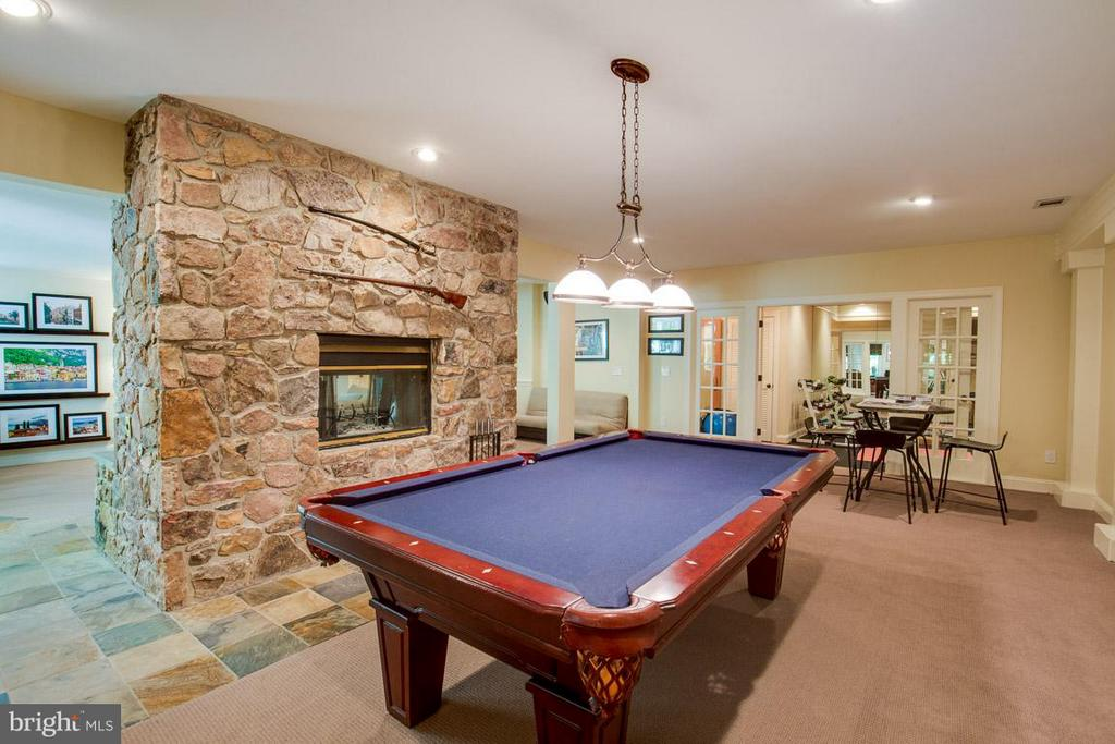 Billiards area w/ wood burning fp (gas option) - 43319 BUTTERFIELD CT, ASHBURN