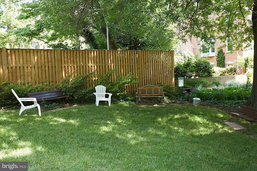 Outdoor community space - 200 MAPLE AVE N #410, FALLS CHURCH