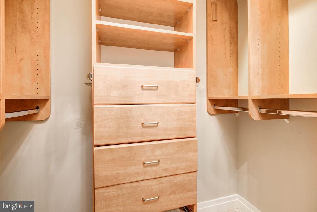 Master Walk In Closet with Built Ins - 1205 GARFIELD ST #405, ARLINGTON