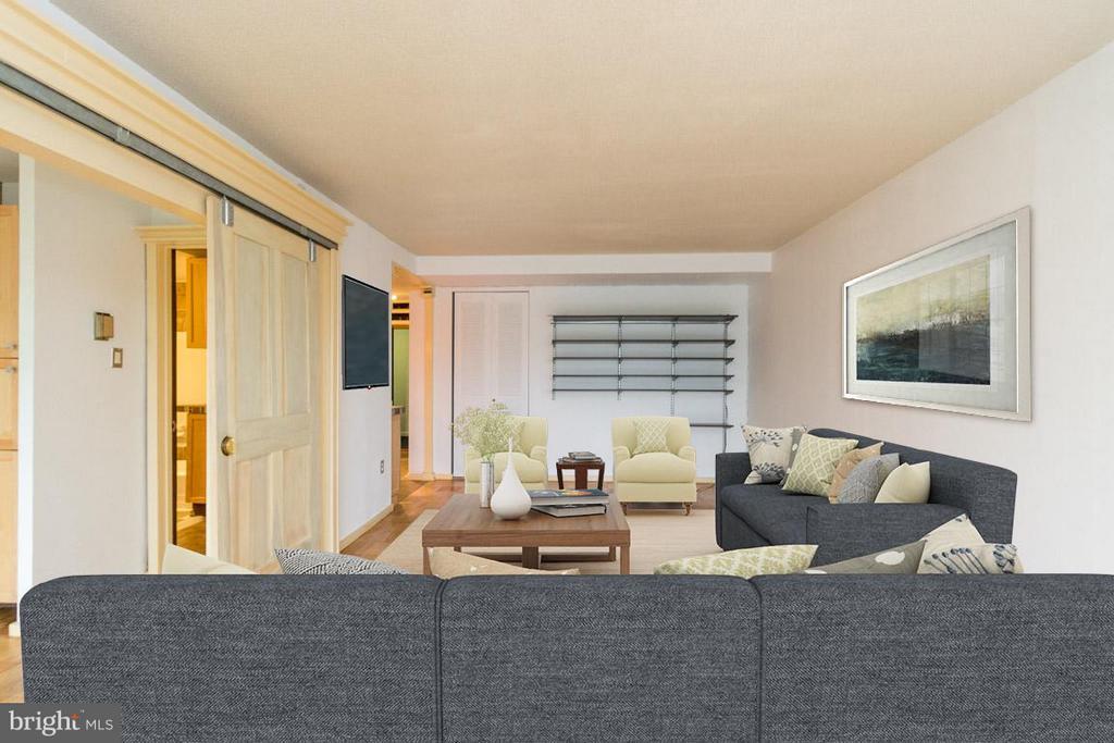 Living Room - 1311 DELAWARE AVE SW #S529, WASHINGTON