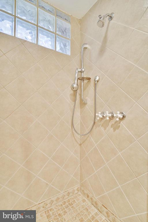 Neutral stall shower in lower-level bath - 116 MONCURE DR, ALEXANDRIA