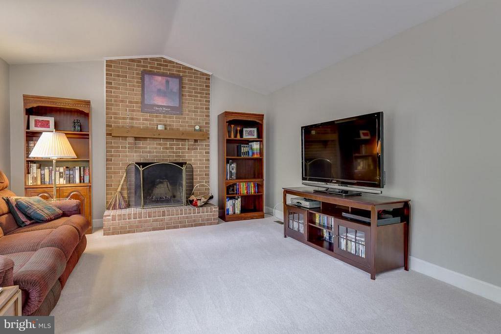 Family Room: Impressive Wood-Burning, Fireplace - 6207 GOODING POND CT, BURKE