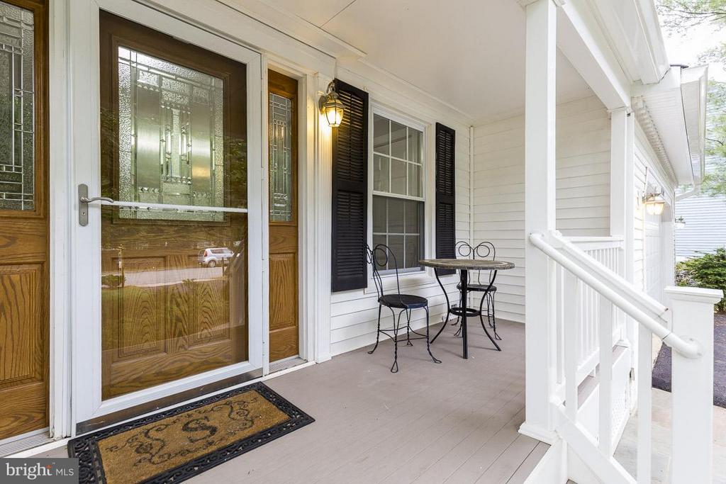 Welcoming Front Door and Sitting Porch - 6207 GOODING POND CT, BURKE