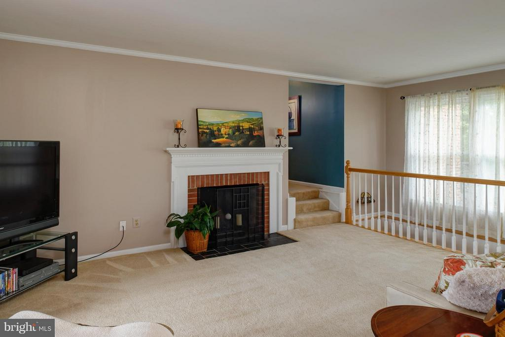 Wood burning fireplace - 7890 CANNONBALL GATE RD, WARRENTON