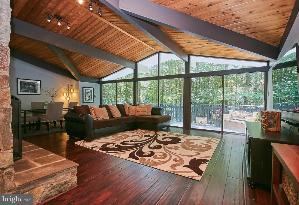Impressive 3 sliders to deck. Vaulted ceiling. - 6704 BRIARCROFT ST, CLIFTON