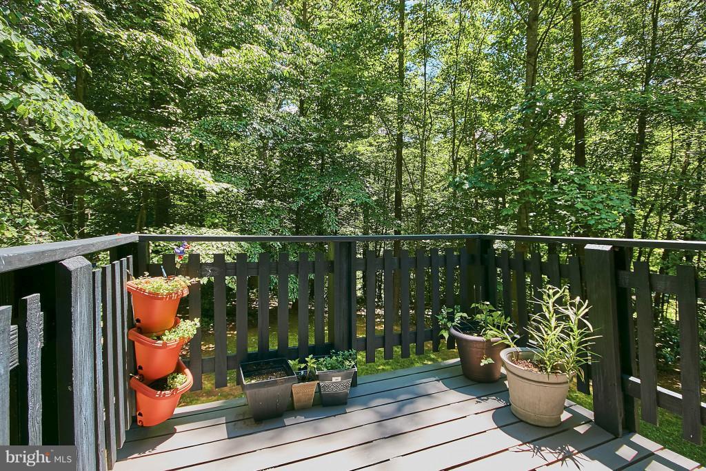 Enjoy coffee on the breakfast deck off the kitchen - 6704 BRIARCROFT ST, CLIFTON