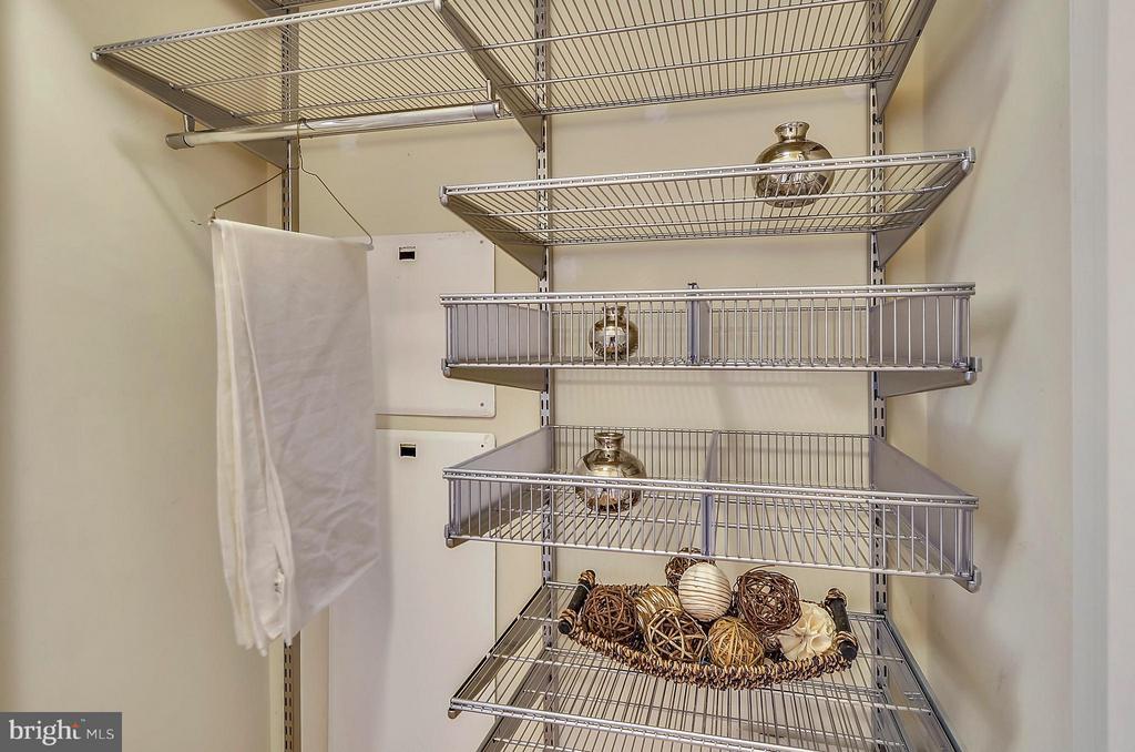 Hall closet with ELFA Customizable Organizers - 2200 WESTMORELAND ST #207, ARLINGTON