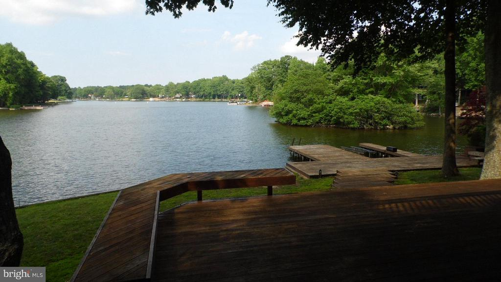 View with approximately 200' of lakefrontage - 106 HARBORVIEW DR, LOCUST GROVE