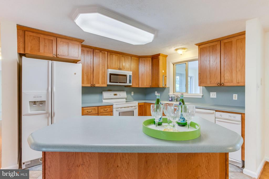 Kitchen with island - 106 HARBORVIEW DR, LOCUST GROVE