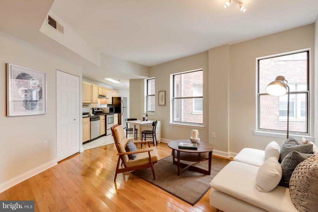 Living Room with lots of Natural Light - 1621 T ST NW #707, WASHINGTON