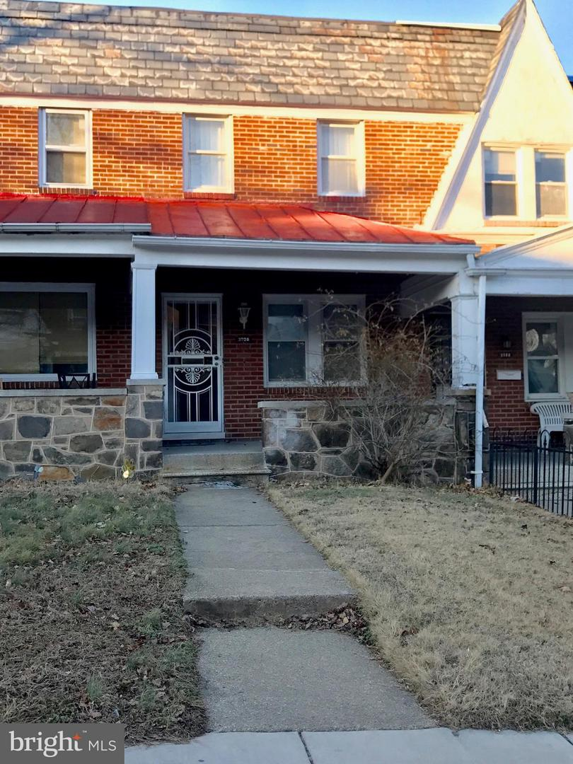 Single Family for Sale at 3708 Woodridge Rd Baltimore, Maryland 21229 United States