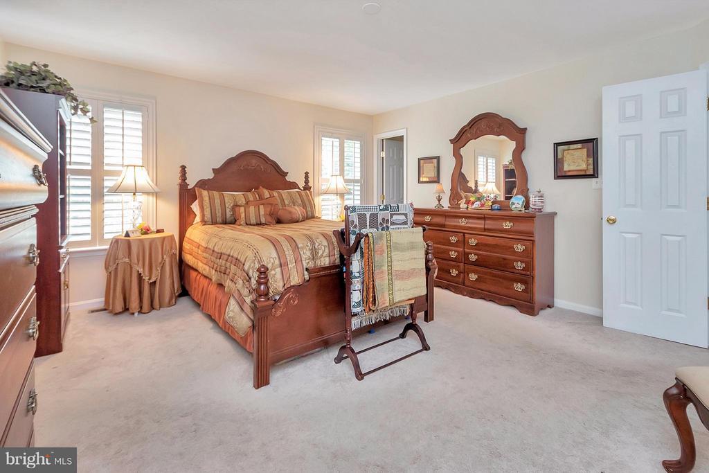 Master bedroom with 2 walk in closets - 19 CLOVERLEAF CT, FREDERICKSBURG