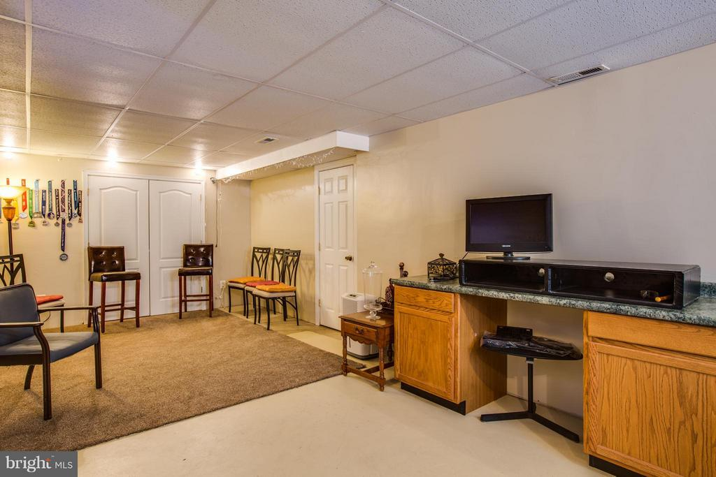 Bsmt family room has space for everyone - 4014 DERBYSHIRE LN, FREDERICKSBURG