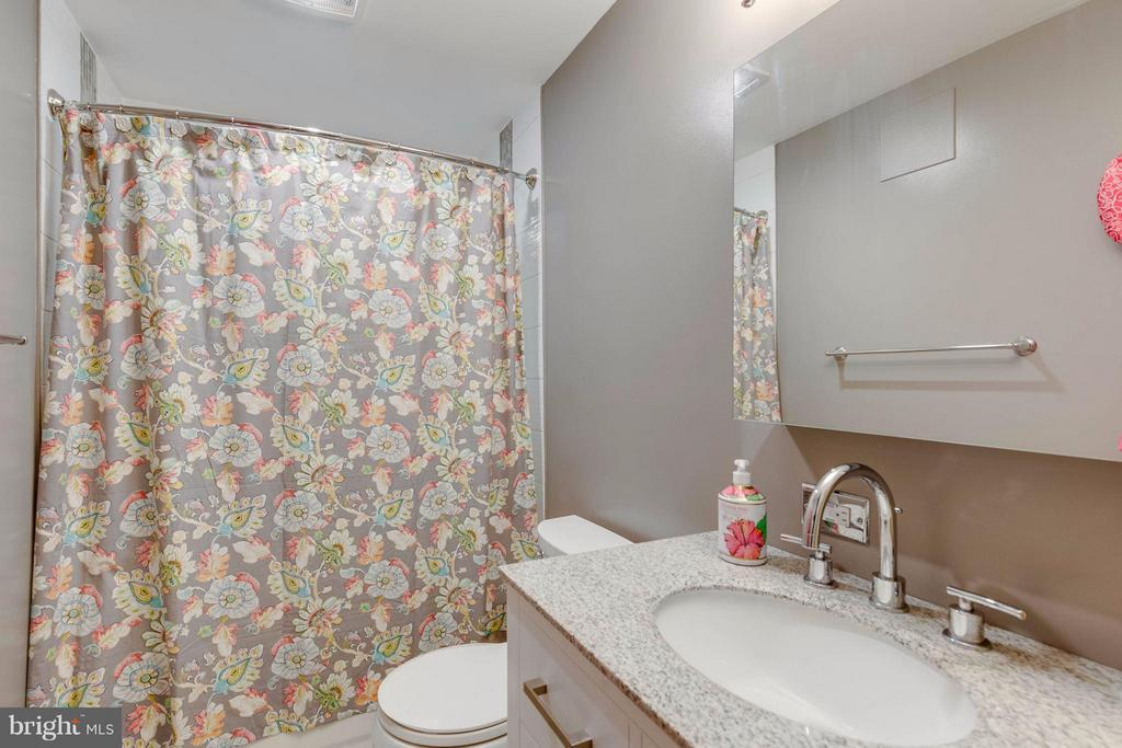 Basement bath with gorgeous tile work! - 8515 SILVERDALE RD, LORTON