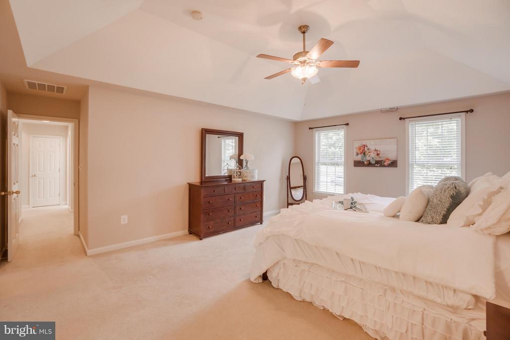 Tray Ceiling and Ceiling Fan in Master Suite - 214 KIMBERWICK LN, STAFFORD