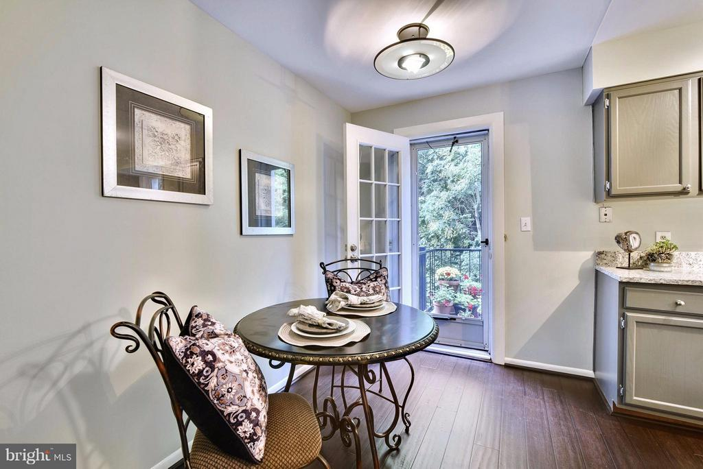 Dining area with private balcony access - 2846B WAKEFIELD ST S #B, ARLINGTON