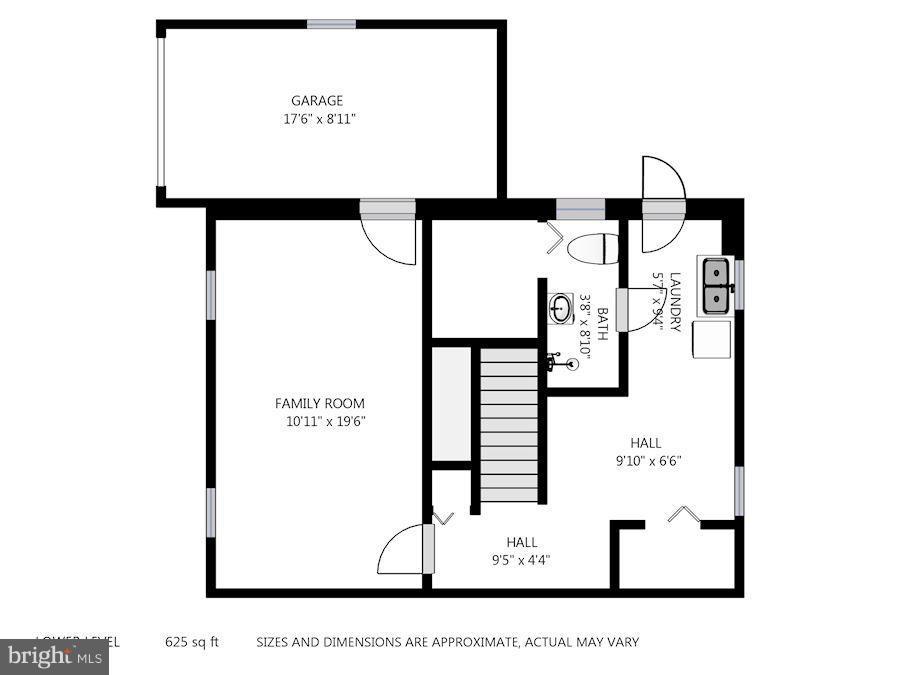 Lower Level Floor Plan - 6208 SLIGO MILL RD NE, WASHINGTON