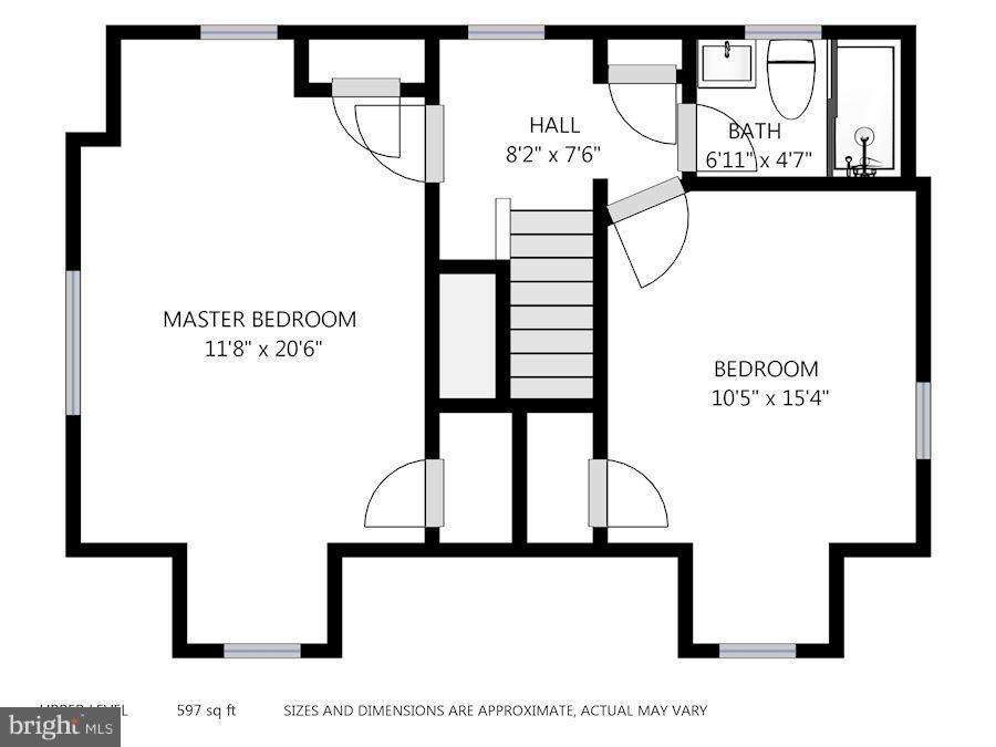 Second Level Floor Plan - 6208 SLIGO MILL RD NE, WASHINGTON