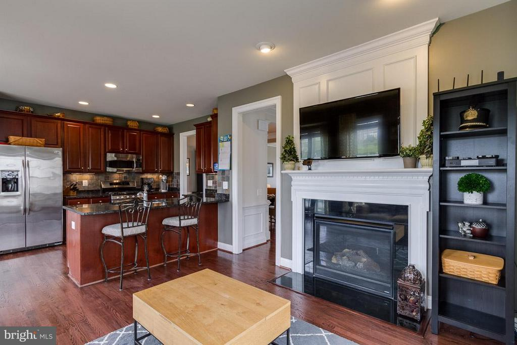 Kitchen & gas FP in Family Room - 510 RED RASPBERRY TER, LEESBURG